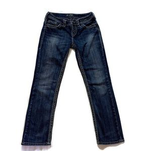 Silver Jeans Suki Straight Leg Stretch 28 x 30